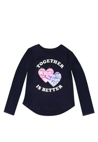 GAP navy Kids Flippy Sequin T-Shirt 85F83KA2B95F81GS_1