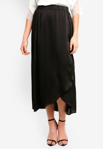Vero Moda black Leo Long Skirt 02521AAE9F22F9GS_1