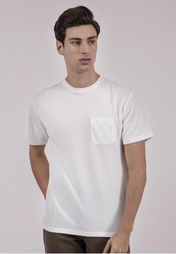 The Executive white Cotton Spun Tshirt 55483AAF01191AGS_1