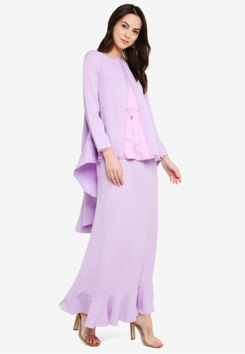 Laura Kurung Lilac from GHAANIA in purple_1