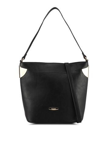 Perllini&Mel black Faux Leather Single Handle 3463EACD828F4EGS_1