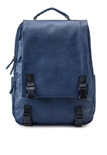 Flap Frontal Faux Leatheesprit暢貨中心r Backpack, 包, 後背包