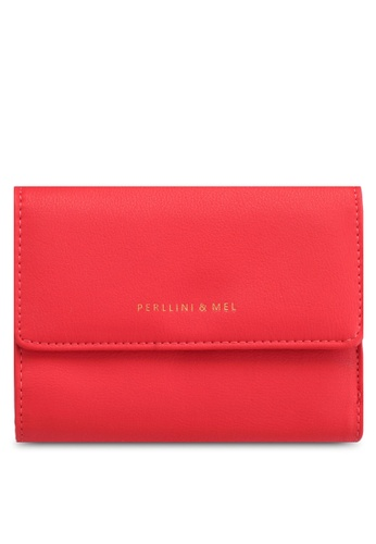 Perllini&Mel red Faux Leather Mid-Size Wallet 21911ACF5B1101GS_1