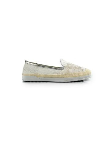 SHINE white Lace Up Slip-On Loafers SH554SH0HC20SG_1