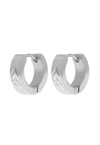Elfi silver Elfi Stainless Steel Square Hoop Earrings 1F037ACAEDF711GS_1