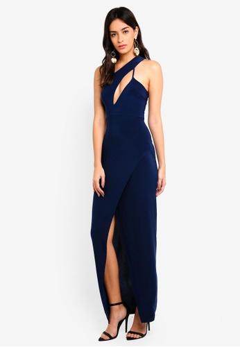 87472545546 Buy MISSGUIDED Slinky One Shoulder Cut Out Maxi Dress | ZALORA HK
