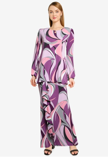 Midi Kurung Ruffle from Zuco Fashion in Pink