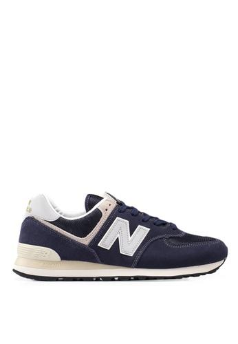 New Balance navy 574 Lifestyle Shoes FD640SH846E822GS_1