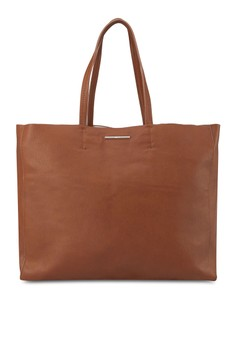 Faux-Leather Shopper Bag