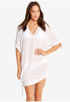 54f0d99c95 Seafolly white Textured Gauze Cover Up F54B2AAAFFFC32GS_1