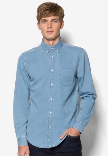 丹寧長袖襯衫,esprit旗艦店 服飾, 襯衫