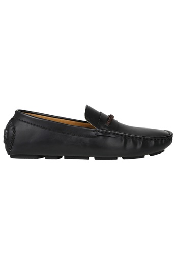 Tomaz black Tomaz C355 Front Braided Penny Loafers (Black) 64A3BSH3D5AD00GS_1