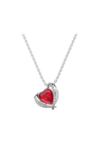 Her Jewellery LUVEA - Angel Heart Pendant (White Gold) by Her Jewellery D26B9AC48EE5B6GS_1
