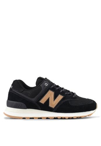 New Balance black 574 Classic Lifestyle Sneakers NE323SH0SXNOMY_1