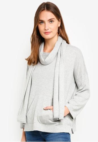 ESPRIT grey Long Sleeve Cardigan BCE18AA34F905EGS_1