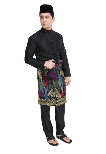 Amar Amran black Baju Melayu Moden A3833AA75FFB9BGS_1