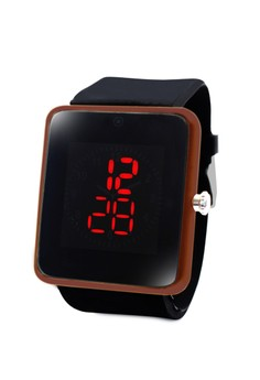 Clock Square Touch LED Unisex Silicon Strap Watch