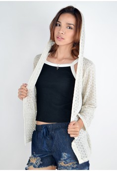 Knitted Cardigan with Hood Hearty