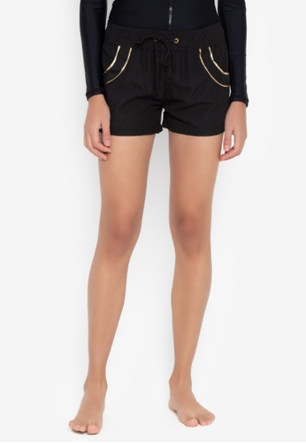 Sassa black Beach Squad Short Boardshort 1348AUSF6B4655GS_1