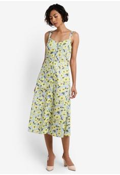 Buttercup Stripe Midi Dress