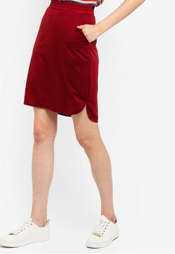 6e083f9dbd Shop ZALORA BASICS Basic Jersey Curve Hem Skirt Online on ZALORA Philippines
