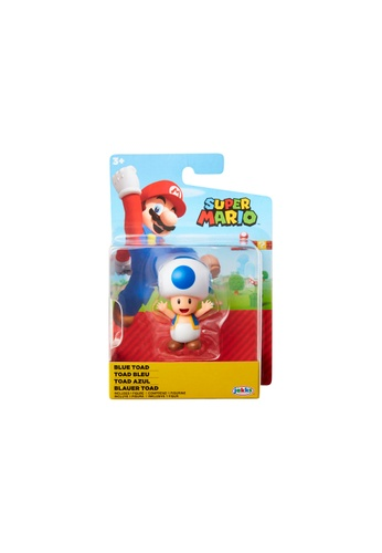 Kidmoro Nintendo Super Mario: W23 BLUE TOAD 2.5-inch Figure with Simple Articulation 54F87ES5FC36B5GS_1
