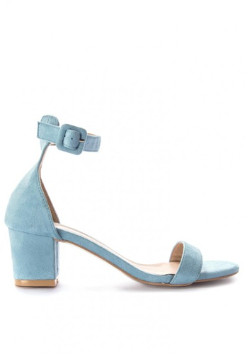 de56de56426 Shop Rock Rose Suede Block Heel Sandals Online on ZALORA Philippines