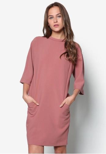 Hallton 寬鬆七分袖連身裙, 服飾, 短esprit門市地址洋裝