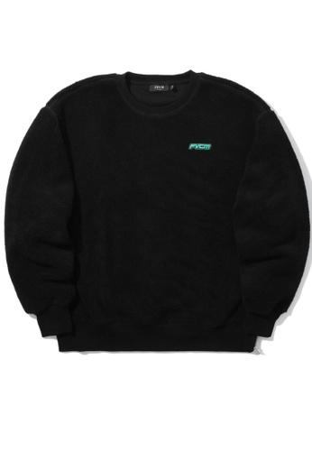 Fivecm black Logo fleece sweater 925A8AA643ACADGS_1