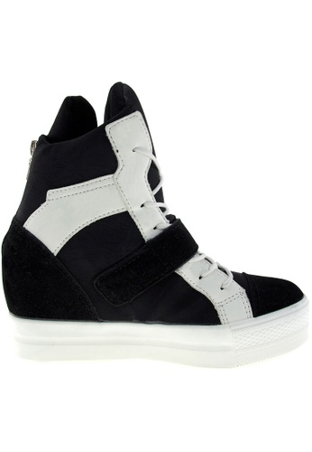 Maxstar black Maxstar Women's C2 Velcro Hidden Heel Suede High Top Sneakers US Women Size MA164SH81PYWSG_1