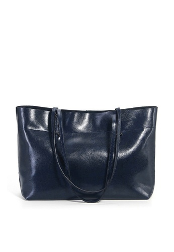 Twenty Eight Shoes navy VANSA Cow Leather Hand Bag VBW-Tb8825A 0DA80ACE9D9CD0GS_1