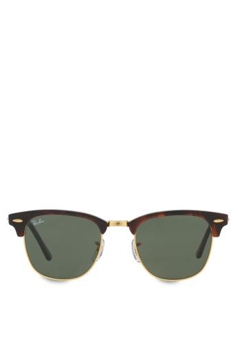 Ray-Ban Clubmaster RB3016 Sunglasses RA370GL61RZMSG_1