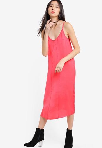 f92ce6b3d545c Buy TOPSHOP Washed Satin Midi Slip Dress Online   ZALORA Malaysia