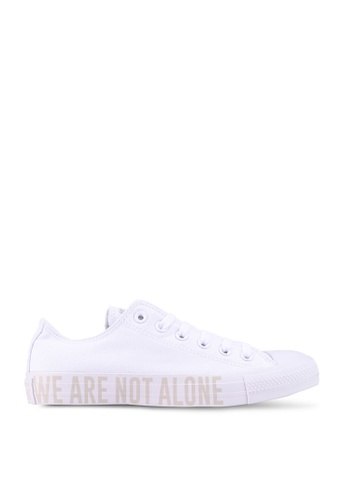 Converse white Chuck Taylor All Star We Are Not Alone Ox Sneakers 2960BSH3593831GS_1