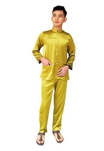 Denai Boutique green Baju Melayu Najmi 47144AAD9EECA5GS_1