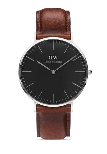 Daniel Wellington silver Classic St Mawes Black 40mm Silver Watch DFC97AC57AA47AGS_1