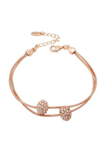 Jaysa Collection gold 18k Rose Gold Bracelet With Austrian Crystal Ornaments JA875AC0FKLYSG_1