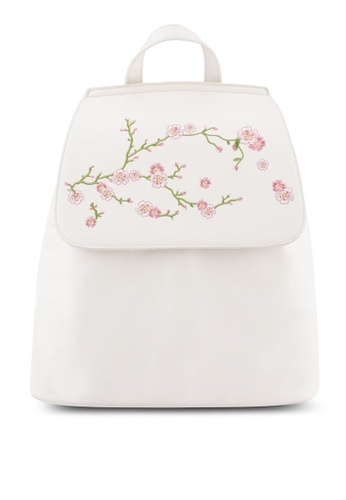 Something Borrowed beige Cherry Blossom Backpack 18455AC75354C4GS_1