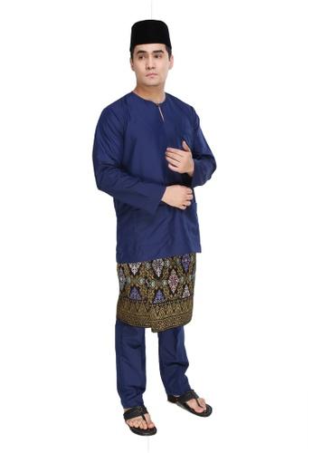 Amar Amran navy Baju Melayu Teluk Belanga 8B902AAA333DEFGS_1