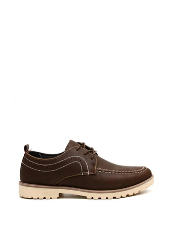 London Fashion brown Lance 9920 Formal/Casual Lace up Leather Shoes LO229SH0K19MPH_1