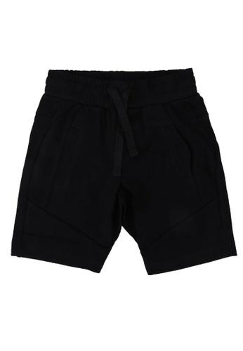 FOX Kids & Baby black Basic Panelled Boy Shorts BCD87KA9D69160GS_1