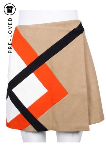 Msgm multi Pre-Loved msgm Multi Colour Print Wool Skirt 8909CAA4562558GS_1