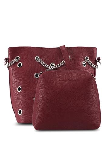 Something Borrowed red Bucket Bag With Metal Detail 812AEAC83C8D05GS_1