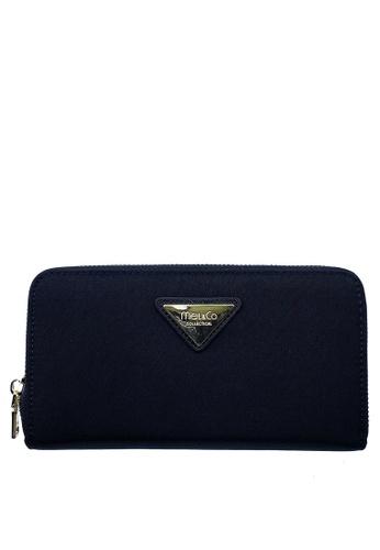 Mel&Co black Nylon Zip-Around Long Wallet 52130ACCA03319GS_1