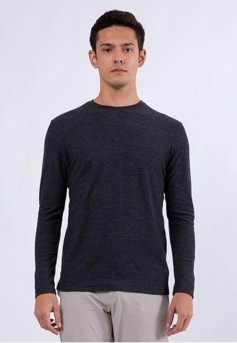 The Executive grey Slim T-Shirt Dark Grey C1D5CAAC18A4F9GS_1