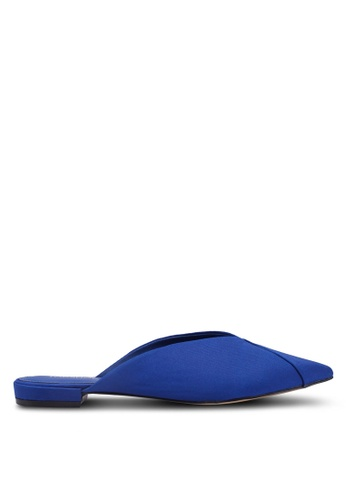 TOPSHOP 藍色 Alice Pointed Mules D9687SH74CB364GS_1