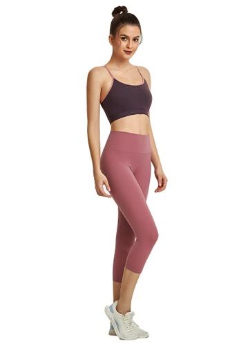 B-Code pink ZWG1103b-Lady Quick Drying Running Fitness Yoga Leggings-Pink 22555AA2802806GS_1