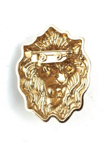 59ebdc57442 Buy Splice Cufflinks Gold Lion Head Lapel Pin Online on ZALORA Singapore