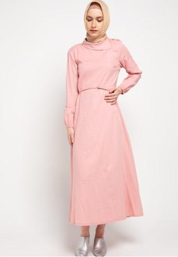 Expand pink Zafina Longdress With Longsleeve AC829AA6E75D43GS_1