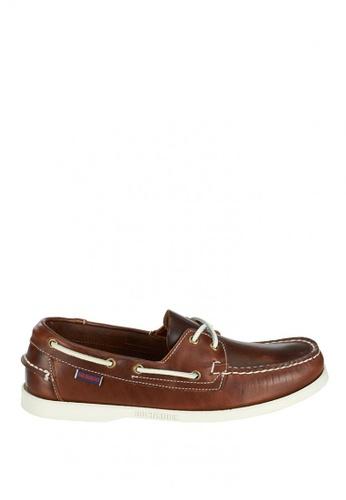 Sebago brown Docksides Loafers B40D6SH73D23FBGS_1